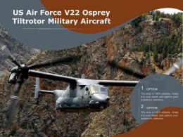 US Air Force V22 Osprey Tiltrotor Military Aircraft
