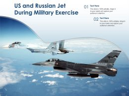 US And Russian Jet During Military Exercise