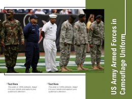 US Army Armed Forces In Camouflage Uniform