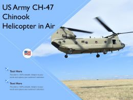 US Army CH 47 Chinook Helicopter In Air