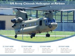 US Army Chinook Helicopter At Airbase