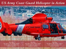 US Army Coast Guard Helicopter In Action
