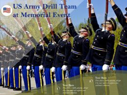 US Army Drill Team At Memorial Event