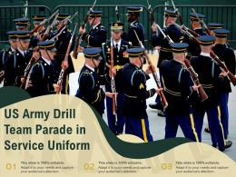 US Army Drill Team Parade In Service Uniform