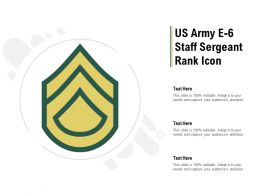 US Army E 6 Staff Sergeant Rank Icon