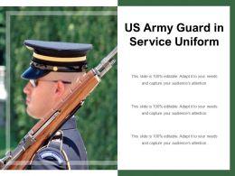 US Army Guard In Service Uniform