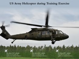 US Army Helicopter During Training Exercise