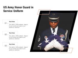 US Army Honor Guard In Service Uniform