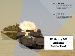 US Army M1 Abrams Battle Tank