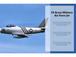 US Army Military Air Force Jet