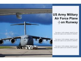 US Army Military Air Force Plane On Runway