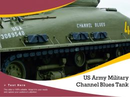 US Army Military Channel Blues Tank