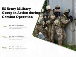 US Army Military Group In Action During Combat Operation