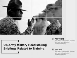 US Army Military Head Making Briefings Related To Training
