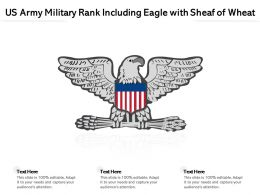 US Army Military Rank Including Eagle With Sheaf Of Wheat