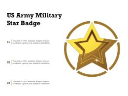 US Army Military Star Badge