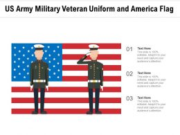 US Army Military Veteran Uniform And America Flag