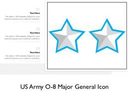 US Army O 8 Major General Icon