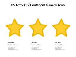 US Army O 9 Lieutenant General Icon