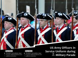 US Army Officers In Service Uniform During Military Parade