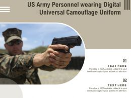 US Army Personnel Wearing Digital Universal Camouflage Uniform