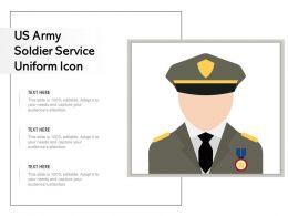 US Army Soldier Service Uniform Icon