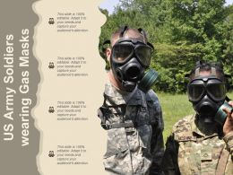 US Army Soldiers Wearing Gas Masks
