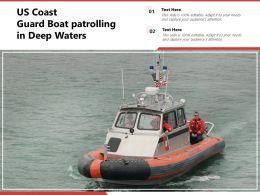 US Coast Guard Boat Patrolling In Deep Waters