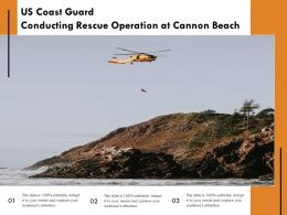 US Coast Guard Conducting Rescue Operation At Cannon Beach