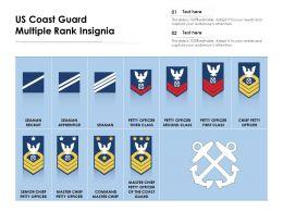 US Coast Guard Multiple Rank Insignia