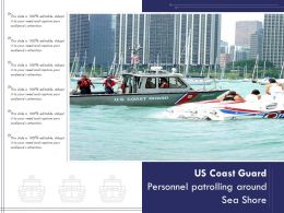 US Coast Guard Personnel Patrolling Around Sea Shore