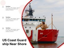 US Coast Guard Ship Near Shore