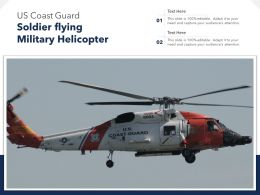 US Coast Guard Soldier Flying Military Helicopter