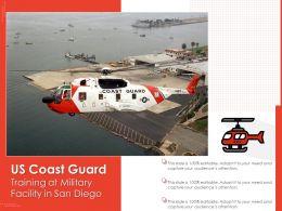 US Coast Guard Training At Military Facility In San Diego