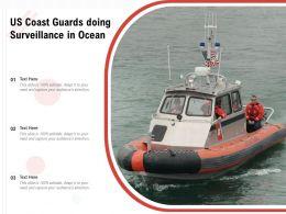 US Coast Guards Doing Surveillance In Ocean