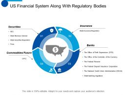 Us Financial System Along With Regulatory Bodies Ppt Show Icon