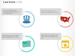 us_hat_map_flag_calendar_ppt_icons_graphics_Slide01