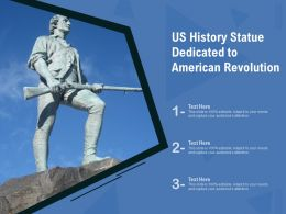 US History Statue Dedicated To American Revolution