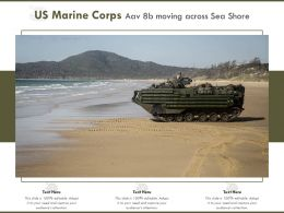US Marine Corps Aav 8b Moving Across Sea Shore