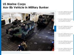 US Marine Corps Aav 8b Vehicle In Military Bunker