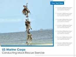 US Marine Corps Conducting Mock Rescue Exercise