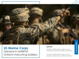 US Marine Corps General In Marpat Uniform Instructing Soldiers