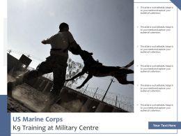 US Marine Corps K9 Training At Military Centre