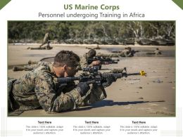 US Marine Corps Personnel Undergoing Training In Africa