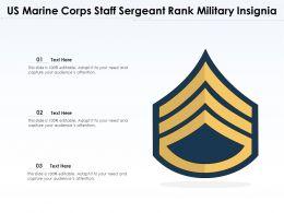 US Marine Corps Staff Sergeant Rank Military Insignia
