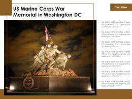 US Marine Corps War Memorial In Washington DC