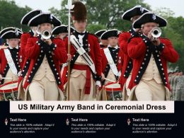 US Military Army Band In Ceremonial Dress