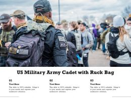 US Military Army Cadet With Ruck Bag