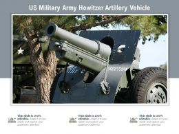 US Military Army Howitzer Artillery Vehicle