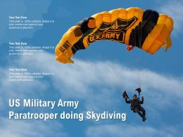 US Military Army Paratrooper Doing Skydiving